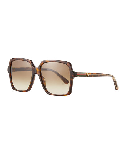 Square Acetate Sunglasses with GG Temple