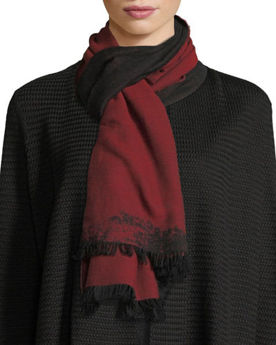 Organic Cotton Reversible Jacquard Scarf