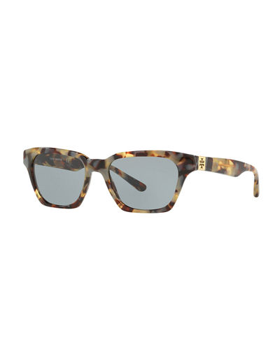 Slim Rectangle Acetate Sunglasses