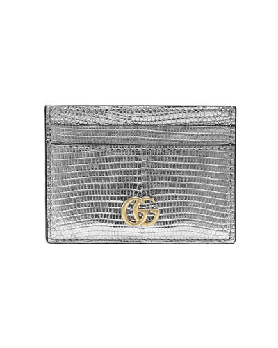 Gucci Petite Laminated Lizard Card Case