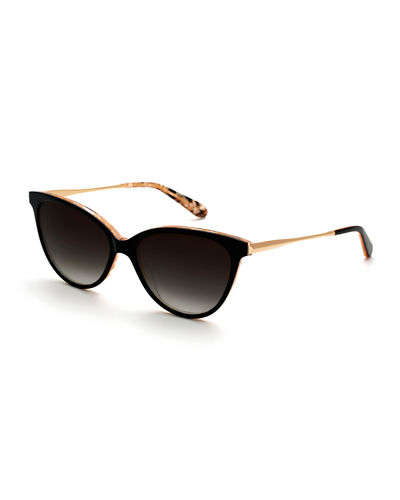 Monroe Gradient Cat-Eye Sunglasses