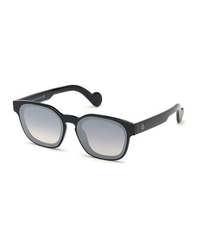 Moncler Mirrored Rectangle Sunglasses