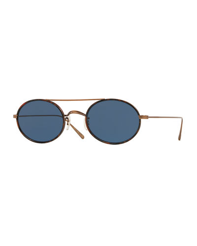 Shai Oval Metal Sunglasses
