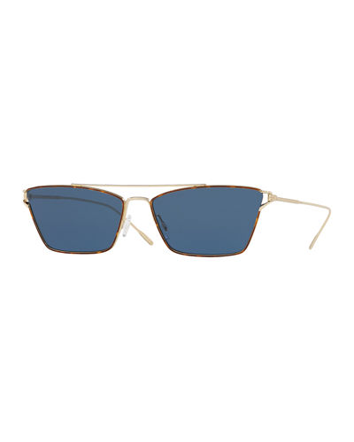 Evey Rectangle Metal Sunglasses