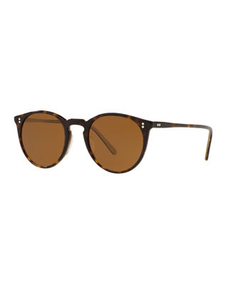 O'Malley 48Mm Round Sunglasses - Horn/ Brown