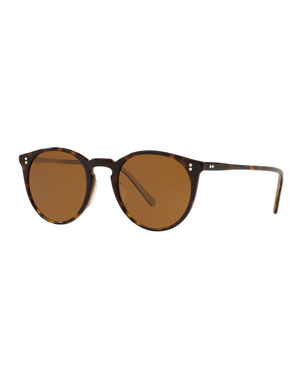 59f0b13e09 Oliver Peoples O Malley Round Acetate Sunglasses