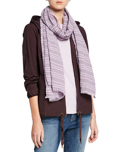 Washed Organic Cotton Rows Scarf