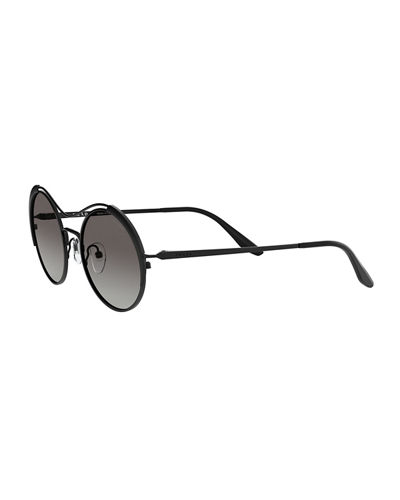 Prada Round Metal Gradient Sunglasses