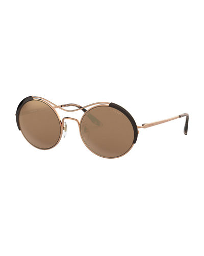 Round Metal Gradient Sunglasses