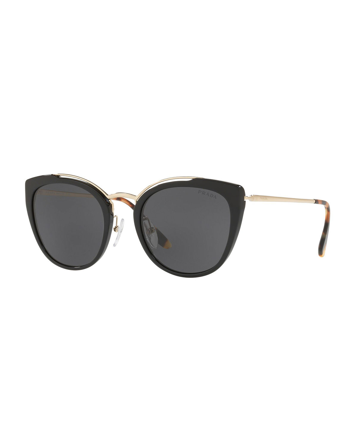 a29fca07484 Prada Acetate   Metal Mirrored Cat-Eye Sunglasses