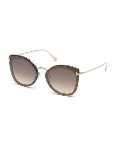 Charlotte Butterfly Lens-Over-Frame Sunglasses