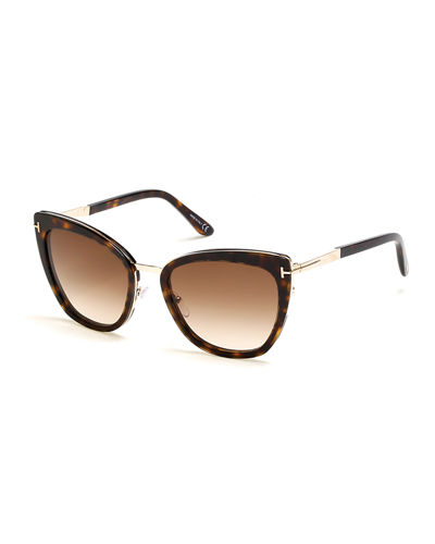 dd700ad945811 Quick Look. TOM FORD · Simona Cat-Eye Metal   Acetate Sunglasses. Available  in Black