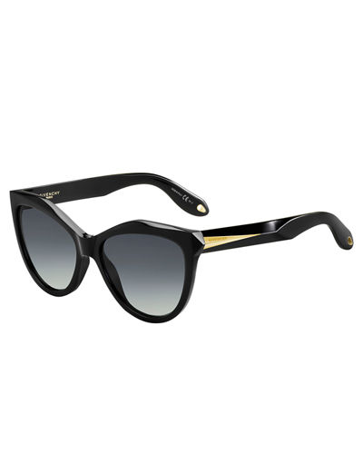 Mitered Cat-Eye Sunglasses