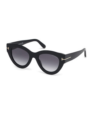 6a48c85f7bb TOM FORD Slater Chunky Round Acetate Sunglasses