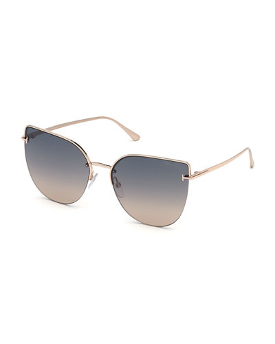 Ingrid Gradient Butterfly Sunglasses
