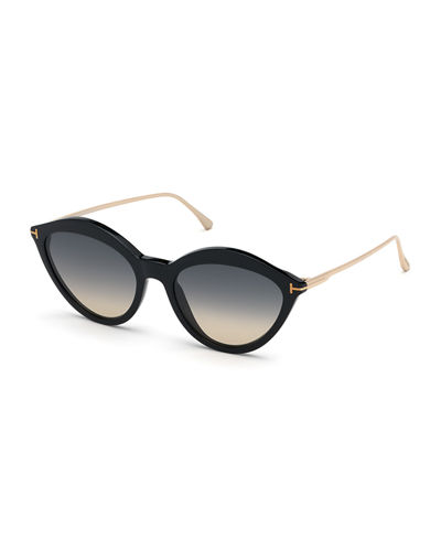 Chloe Cat-Eye Acetate & Metal Sunglasses