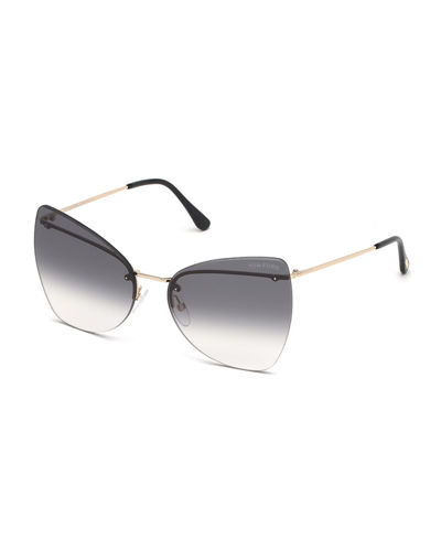 Presley Rimless Butterfly Sunglasses