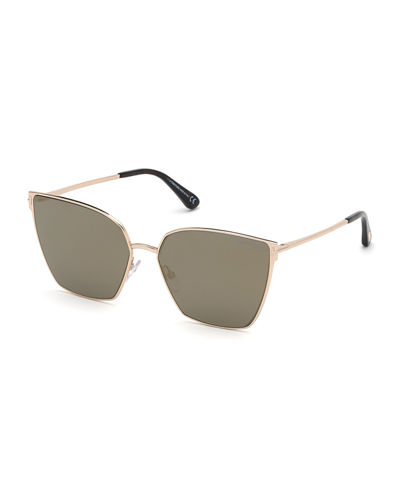 Helena Mirrored Square Sunglasses