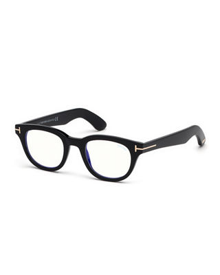 Rectangle Acetate Optical Frames in Black