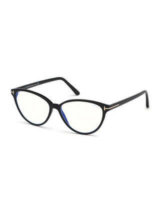 Cat-Eye Acetate Optical Frames in Black