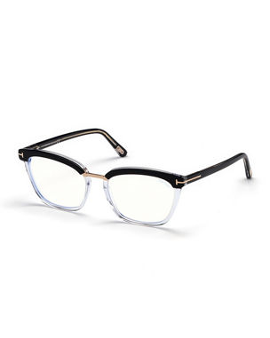 36caa32a34 TOM FORD Cat-Eye Transparent Acetate Optical Frames