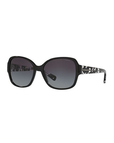 Butterfly Sunglasses w/ Speckled Transparent Arms