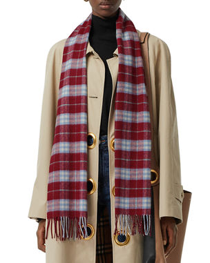 fed80691a075 Burberry Vintage Check Cashmere Scarf
