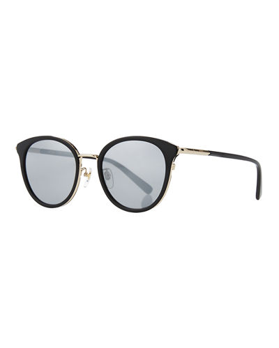 Metal & Acetate Cat-Eye Sunglasses