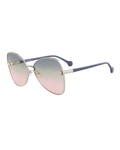 Fiore Gradient Cat-Eye Sunglasses