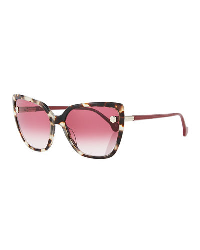 Fiore Cat-Eye Acetate Sunglasses
