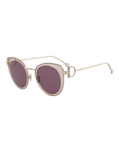 Gancino Cat-Eye Metal Sunglasses