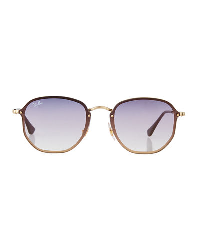 Ray-Ban Square Gradient Metal Sunglasses