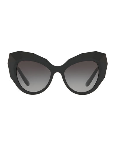 Dolce & Gabbana Faceted Cat-Eye Sunglasses