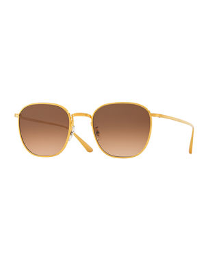 a578a532949 Oliver Peoples The Row Board Meeting Square Photochromic Titanium Sunglasses