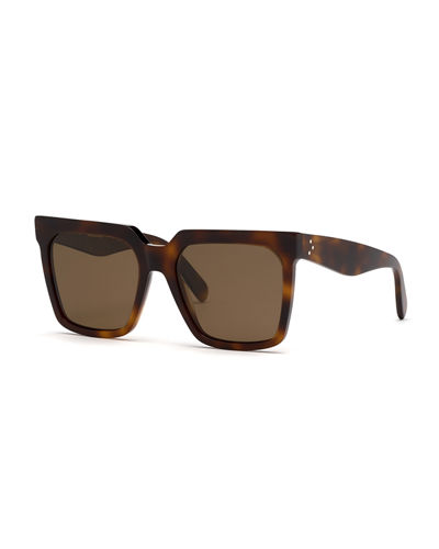 4d6bdf7cd72 Quick Look. Celine · Square Polarized Acetate Sunglasses. Available in Brown