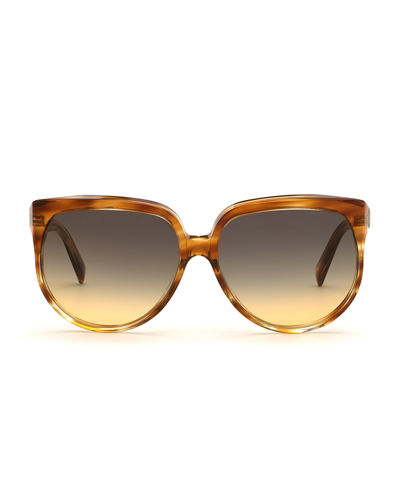 Celine Round Gradient Acetate Sunglasses