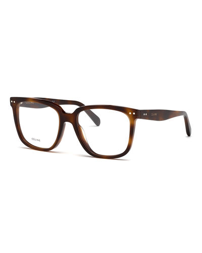 Square Slim Acetate Optical Frames