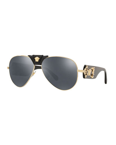 d626c51540537 Quick Look. Versace · Medusa Aviator Sunglasses