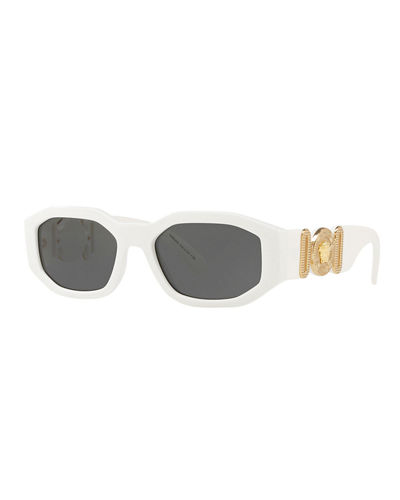 f1a4442b559 Quick Look. Versace · Chunky Rectangle Sunglasses w  Logo ...