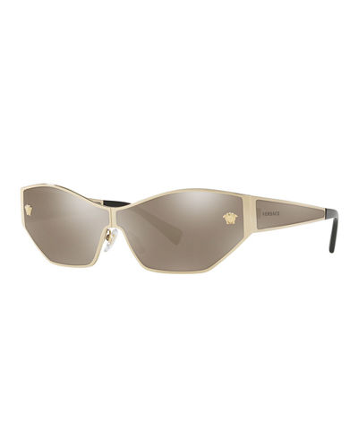 Mirrored Medusa Head Butterfly Sunglasses