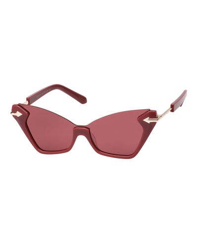 Sweet Cat Semi-Rimless Cat-Eye Sunglasses