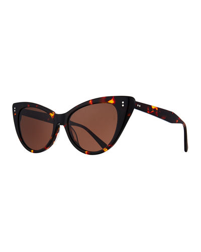 Piper Cat-Eye Acetate Sunglasses