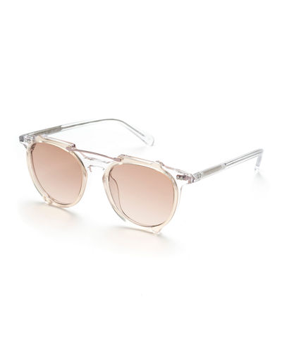 Odin Acetate & Metal Round Sunglasses