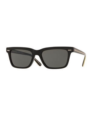 d9f33a61175 Oliver Peoples The Row BA CC Rectangle Acetate Sunglasses
