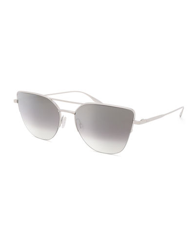 Hani Semi-Rimless Gradient Aviator Sunglasses