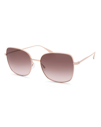 Camille Mirrored Butterfly Sunglasses