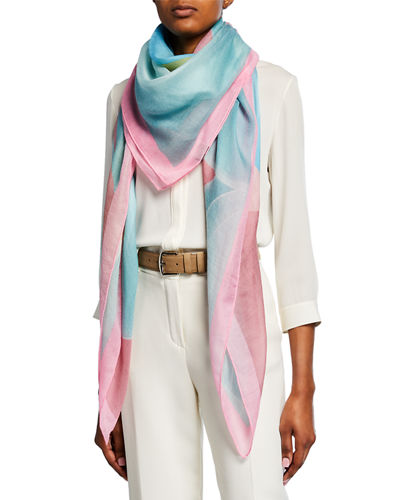 Circling Cashmere-Blend Scarf