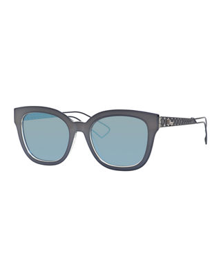 Ama Caged Mirrored Sunglasses in Gray