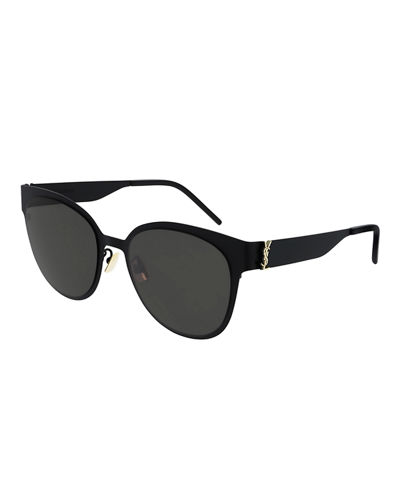 Round Mirrored Metal Sunglasses