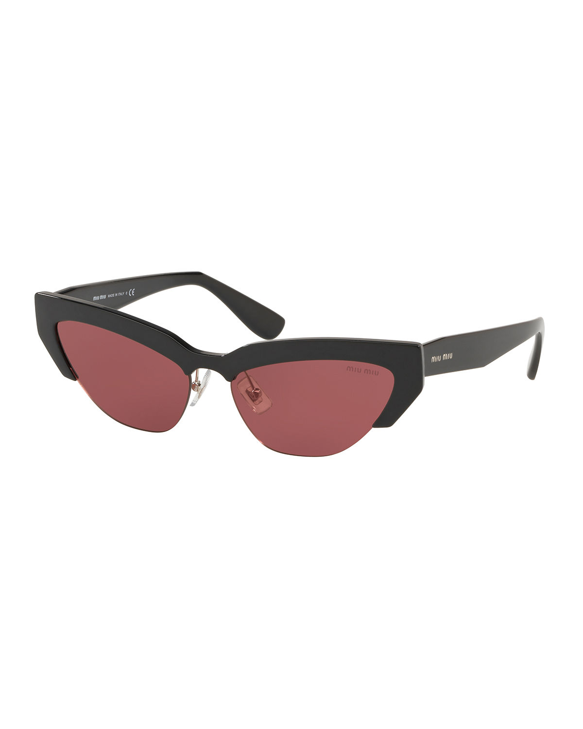 fdb5162bc09 Miu Miu Semi-Rimless Cat-Eye Sunglasses